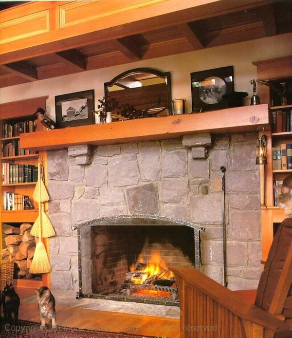 Columbia river gorge house for New construction fireplace